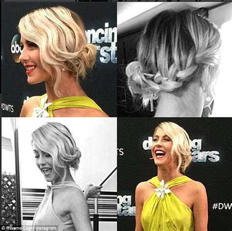 who was the blonde in dwts julianne hough gets a 10 for her daring chartreuse gown on