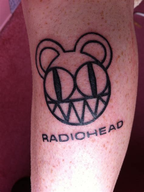radiohead tattoo 17 best ideas about radiohead on lotus