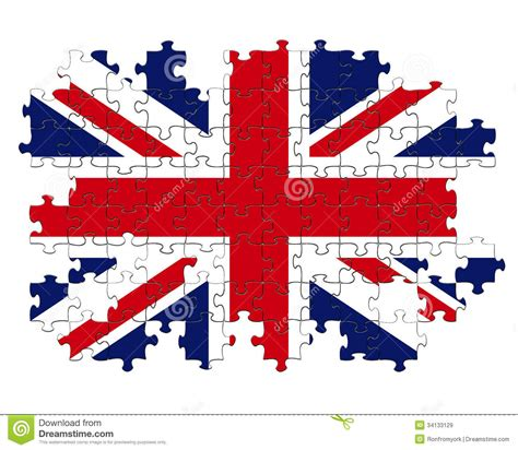 coloring page united kingdom flag union jigsaw puzzle royalty free stock images image