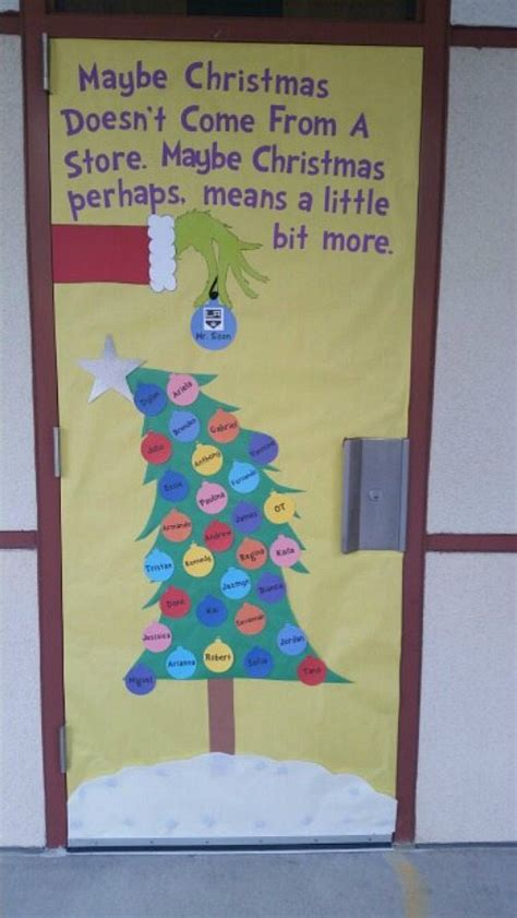 christmas door decorations for a preschool classroom amazing classroom doors for winter and the holidays