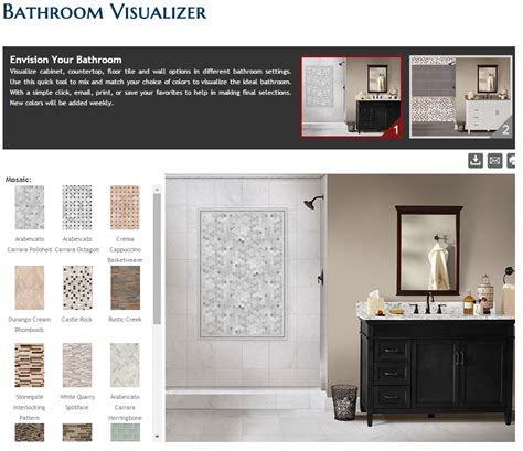 bathroom visualizer flemington granite