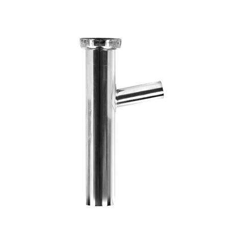 Sink Tailpiece With Dishwasher Connection by Everbilt 1 1 2 In X 8 In Brass Plain End Dishwasher