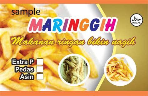 Desain Kemasan Snack jual desain stiker snack produk kemasan tasfiyah
