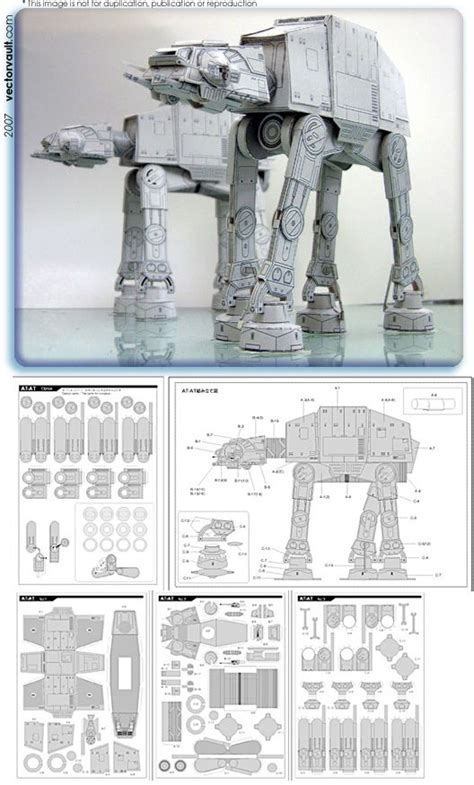 Starwars Papercraft - wars papercraft at at starwars papercraft http