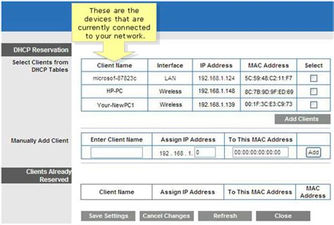 assign  static ip   mac address  dhcp