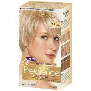 over the counter ash blonde hair color for gray hair l oreal preference 9 5a lightest ash blonde haircolor