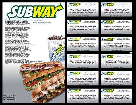 printable subway coupons february 2015 free subway menu coupons 8