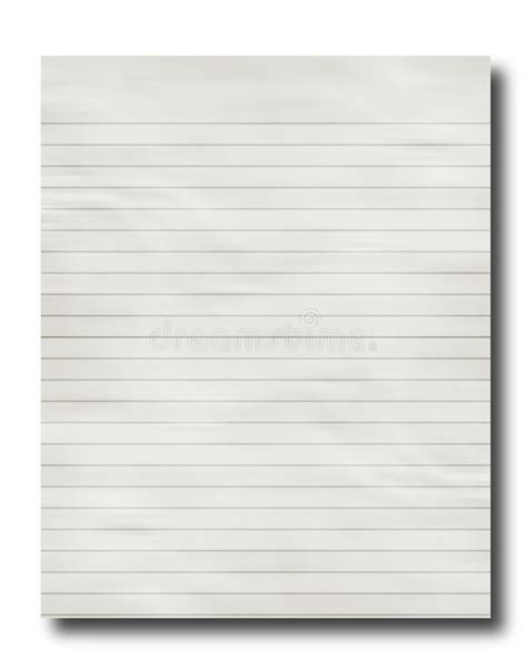 lined paper free stock lined office paper stock illustration image of white