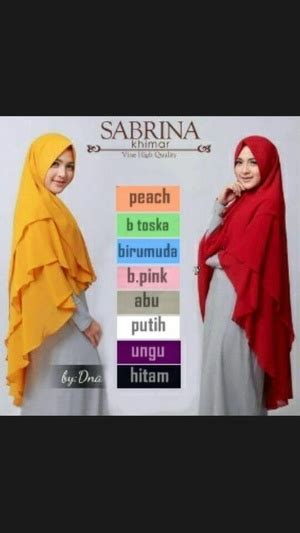 Khimar 3 Layer Pinguin Qinara model jilbab khimar pinguin sabrina 3 layer