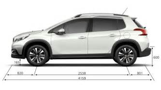 Dimensions Peugeot 2008 Crossover New Peugeot 2008 Suv Technical Information