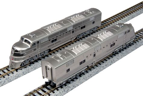 Lokomotif Kato N Scale Gec307 Burlingthon Magnetic Coupler N Scale Silver Streak Zephyr 6 Unit Set And Individual