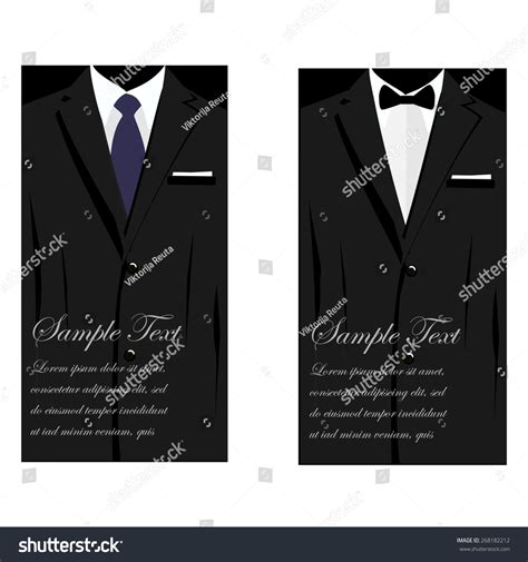 black suit business card template vector business cards suit bowtie stock vector