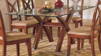 brown leather dining chairs combined furniture artistic dining table designs with glass top for dining