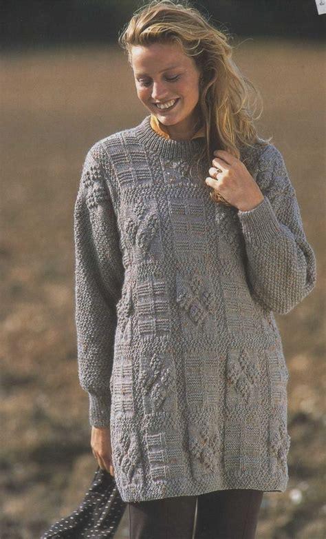 sweater pattern dk yarn ladies long tunic sweater knitting pattern dk yarn