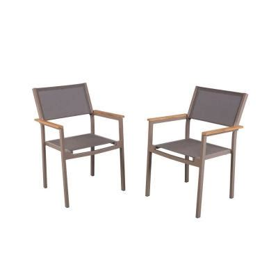 Hampton Bay Barnsdale Teak Patio Dining Armchairs (2 Pack