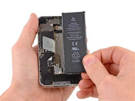 Battery Tewe Iphone 4s iphone 4s battery replacement ifixit