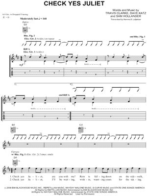 Check Yes Juliet Guitar Chords