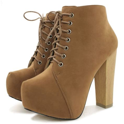 Platform Block Heel Ankle Boots suede style ankle boots buy suede style ankle