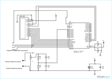 digital voltmeter circuit diagram circuit diagram voltmeter wiring diagram with description
