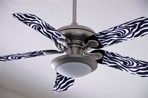 Ceiling Fan Blade Covers by Sale On Zebra Print By Fancyblade On Etsy