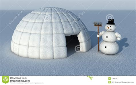 Free House Plans by Snowman And Igloo Royalty Free Stock Photography Image
