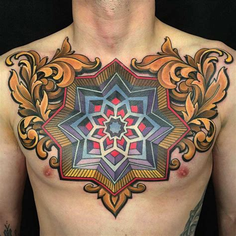 tattoo chest traditional neo traditional men chest tattoo neo traditional