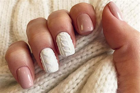 knit pattern nails manicure trend knitted nails beauty tips makeup