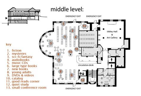 floor plan groton library