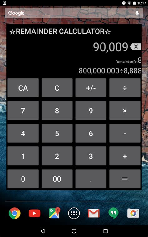 Calculator With Remainder | division remainder calculator android apps on google play