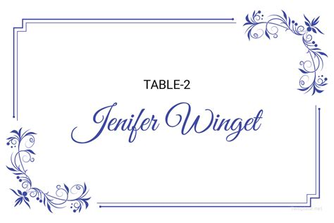 adobe illustrator name place card template free delicate lace place wedding place card template in
