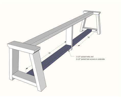 truss benches  alaska lake cabin diy sofa table