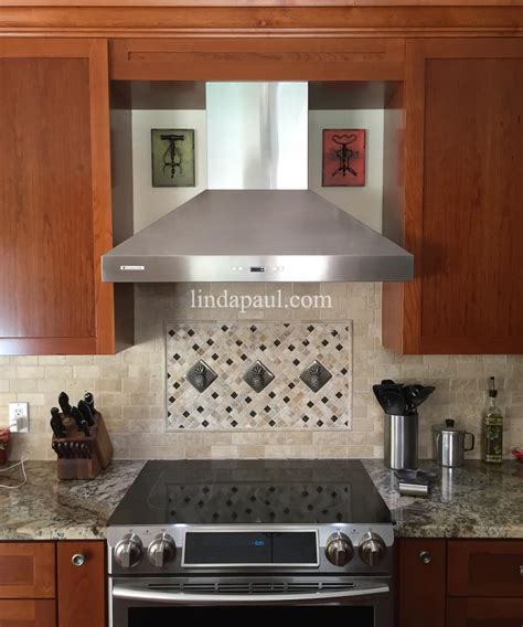 how to do tile backsplash in kitchen pineapple kitchen backsplash tile mosaic medallion