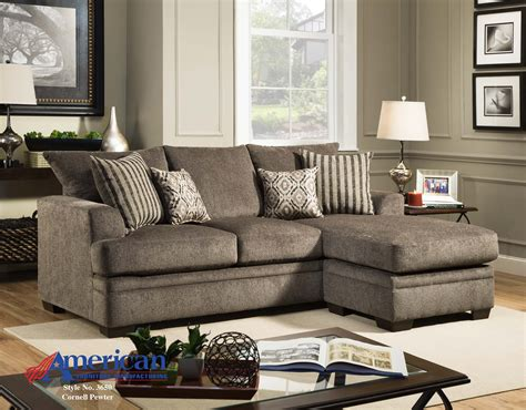 shop living room furniture american furniture cornell pewter sofa chaise priceco