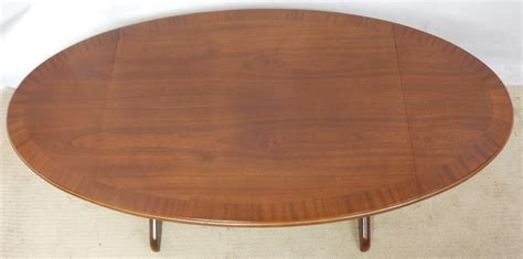 Sold Large Oval Mahogany Dropleaf Coffee Table Oval Mahogany Coffee Table