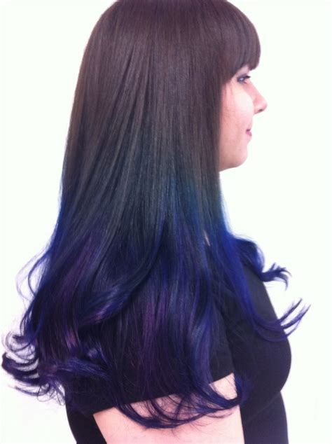 pravana blue hair color blue ombr 233 using pravana vivids color huurrrr