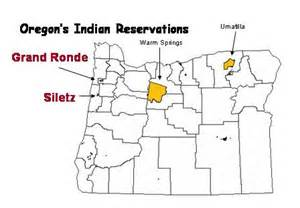 oregon indian tribes map american indian reservations in oregon