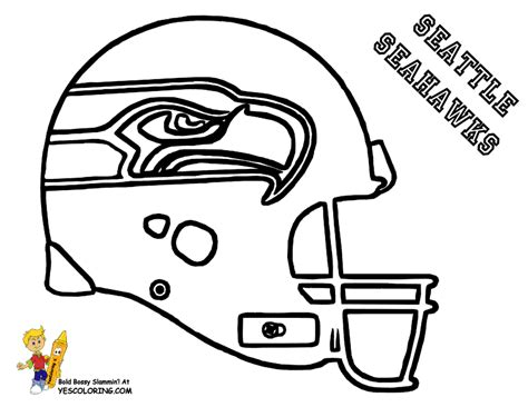 Pro Football Helmet Coloring Page Anti Skull Cracker Seattle Seahawk Coloring Pages