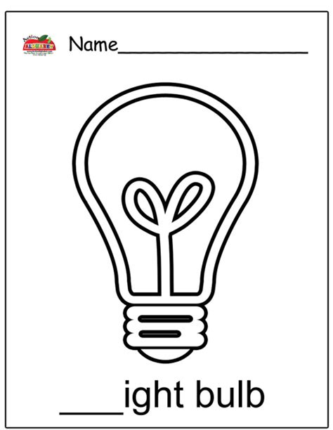 lightbulb coloring page search results calendar 2015