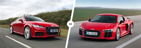 audi r8 and audi tt 2015 audi r8 tt and r8 comparison carwow