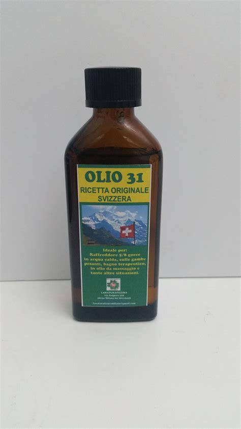 olio 31 mal di testa olio 31 originale svizzero 100 ml la natura ti cura