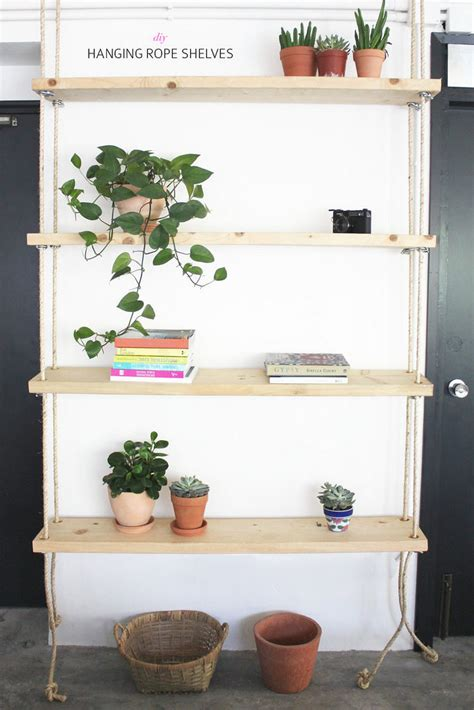 12 diy hanging shelves for every home