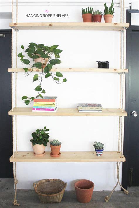 how to hang bookshelves 12 diy hanging shelves for every home