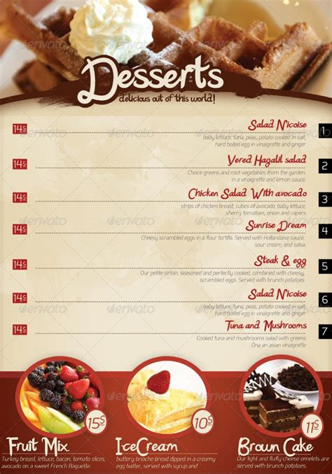 photoshop restaurant menu template restaurant menu template