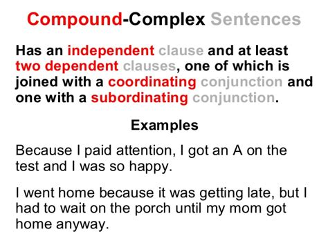simple compound and complex sentences lesson reading