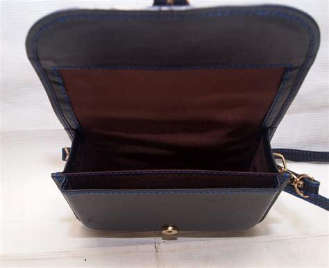 Tas Slempang Kamera Lecca Blue terni blue premium vintage leather sling bag tas kulit