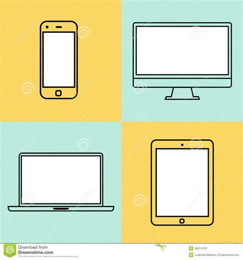 caign monitor html templates laptop tablet computer monitor and smartphone stock