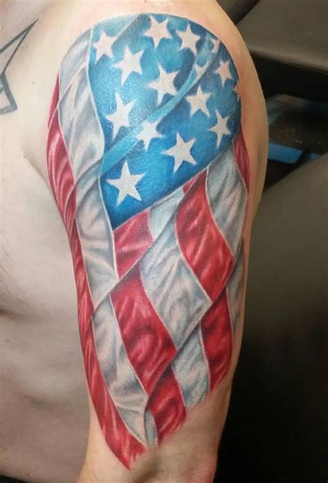 american flag tattoo sleeve 25 patriotic tattoos on half sleeve