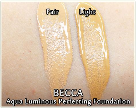 becca aqua luminous perfecting foundation in light becca aqua luminous perfecting foundation review