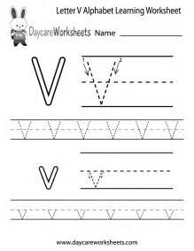 letter v printable worksheets