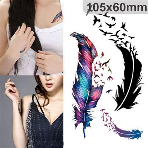 imagenes para hacer tatuajes temporales cheap los tatuajes temporales moda colorido plumas de